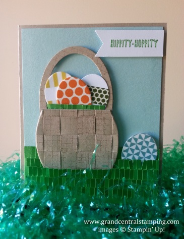 Easter Basket with washi tape eggs