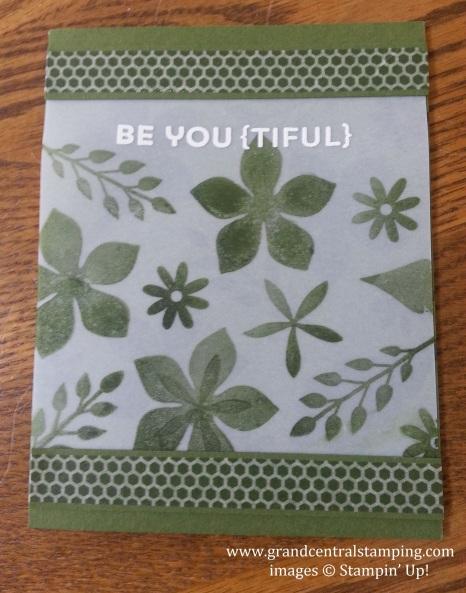 Mossy Meadow Vellum Card