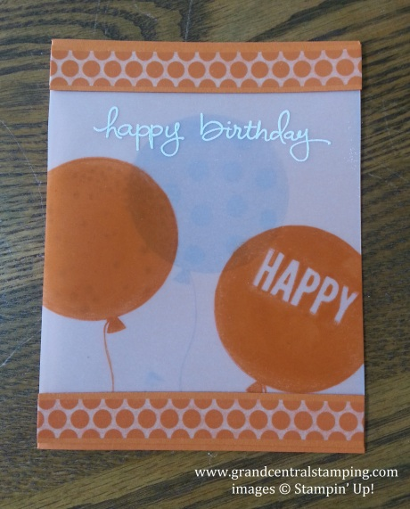 Tangelo Twist Vellum Card