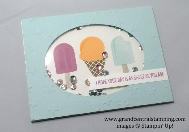 Cool Treats Shaker Card